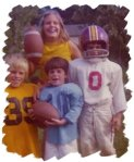 Me at 9(?)..funny at 13 I kissed that boy with the blond hair! My brother is number 0 on the right.