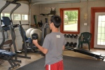 My son in our gym