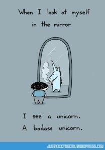 funny-cartoon-badass-unicorn-mirror