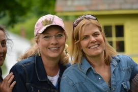 Christy Wilson and I - my hair really took a beating from the light rain! Oh well!