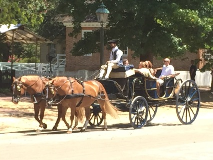 The carriage horses at work..they had beautiful carriages.