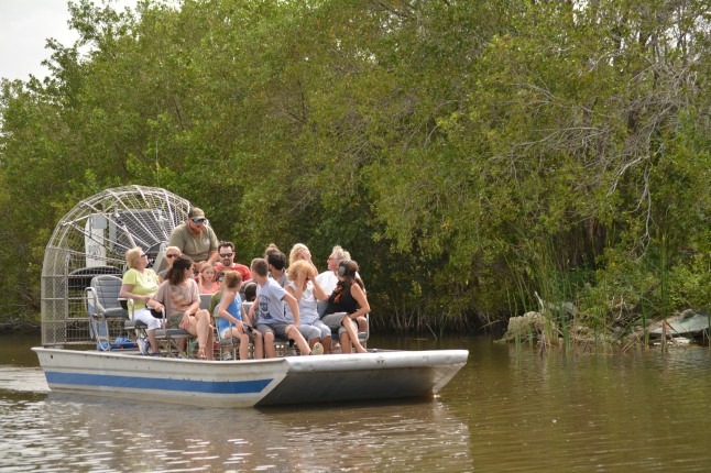 Incoming airboat as we were heading out.